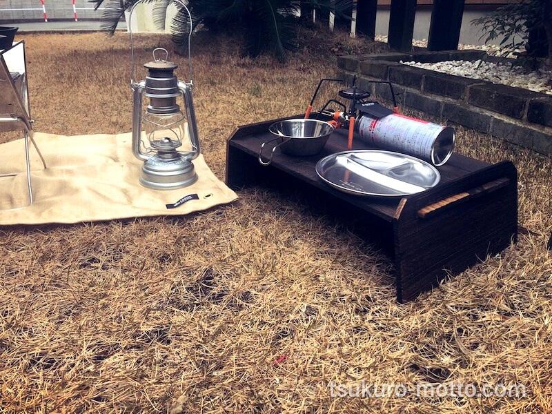 ソロキャンプローテーブル試作1号 製作19