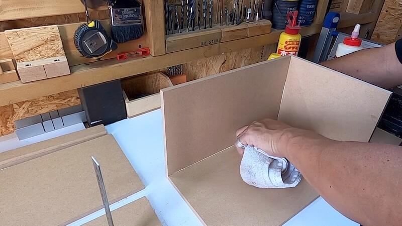 海上コンテナ風収納BOX 製作7