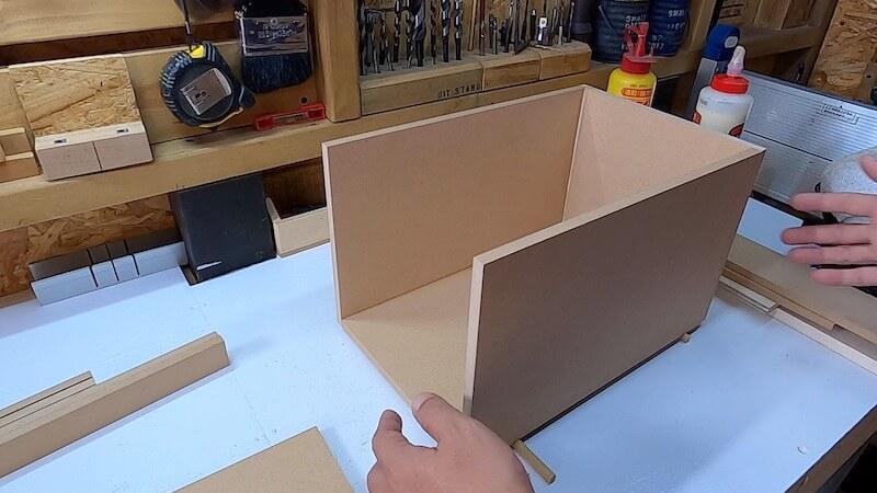 海上コンテナ風収納BOX 製作8