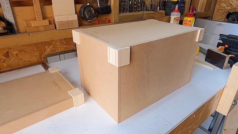 海上コンテナ風収納BOX 製作17
