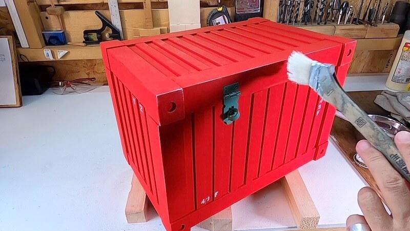 海上コンテナ風収納BOX 製作38