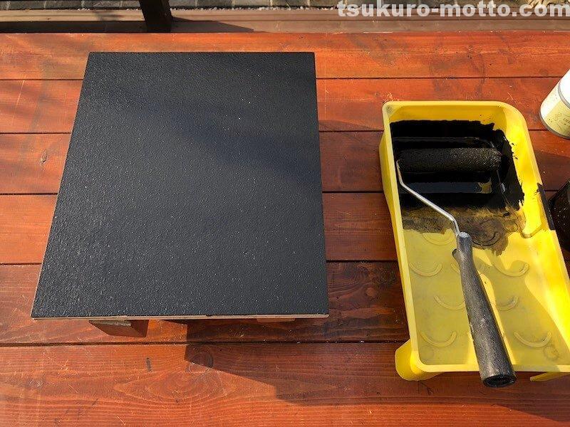 料理レシピボードDIY チョークボードペイント3