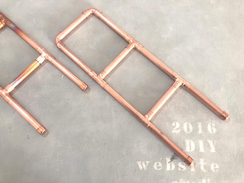 銅管ミニシェルフDIY 乾燥