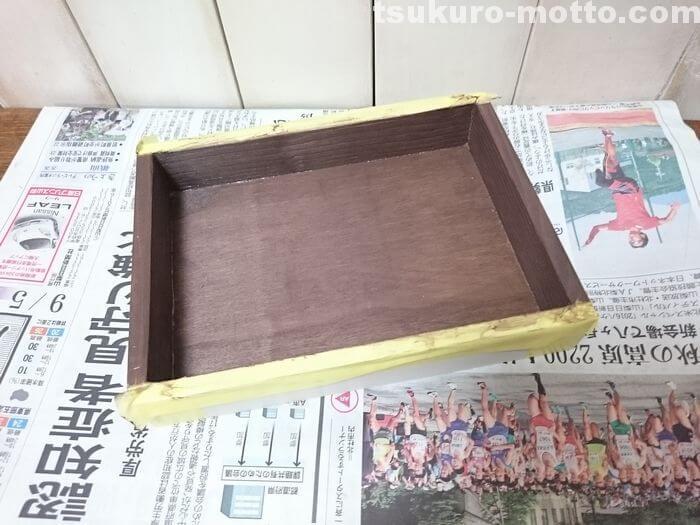 木箱の塗装3