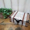 デコパージュ木箱DIY! 100均セリア木箱を使って地図柄トランク風小物入れを作ろう♪