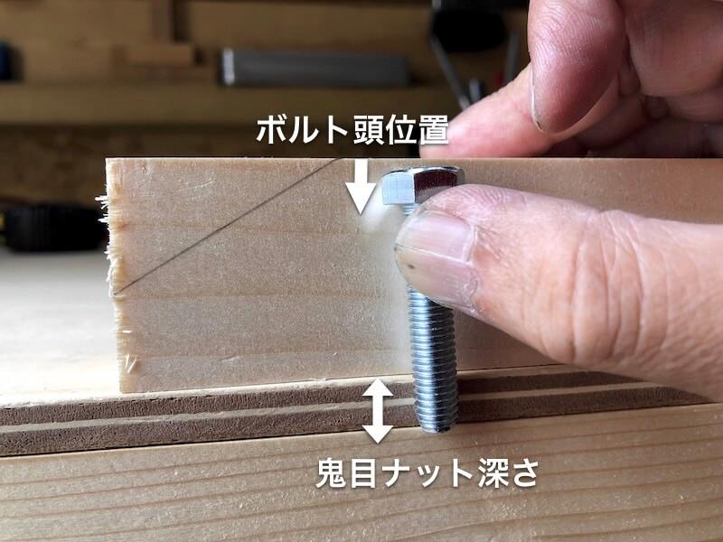 テーブル天板補修 墨付け4