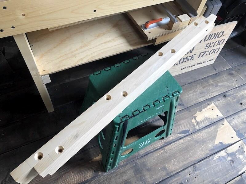 テーブル天板補修 ボルト穴4