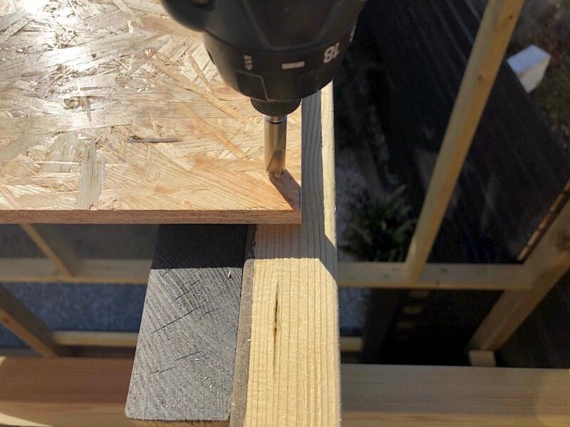 DIY工房製作 屋根下地製作5
