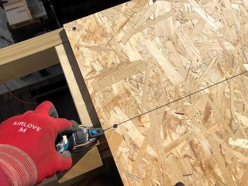DIY工房製作 屋根下地製作6