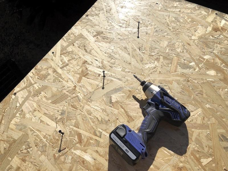 DIY工房製作 屋根下地製作7