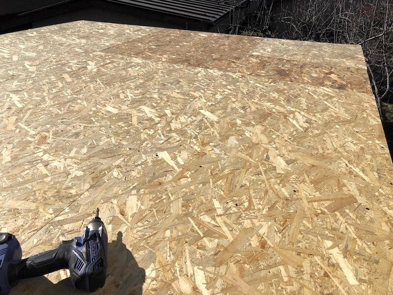 DIY工房製作 屋根下地製作8