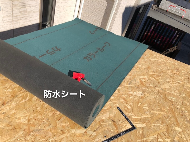 DIY工房製作 屋根下地製作 タイベックス貼り