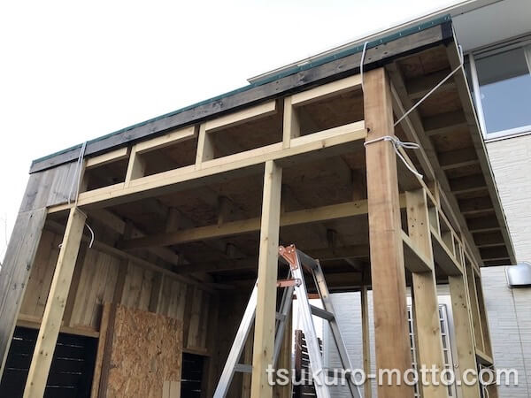 DIY工房製作 屋根下地製作