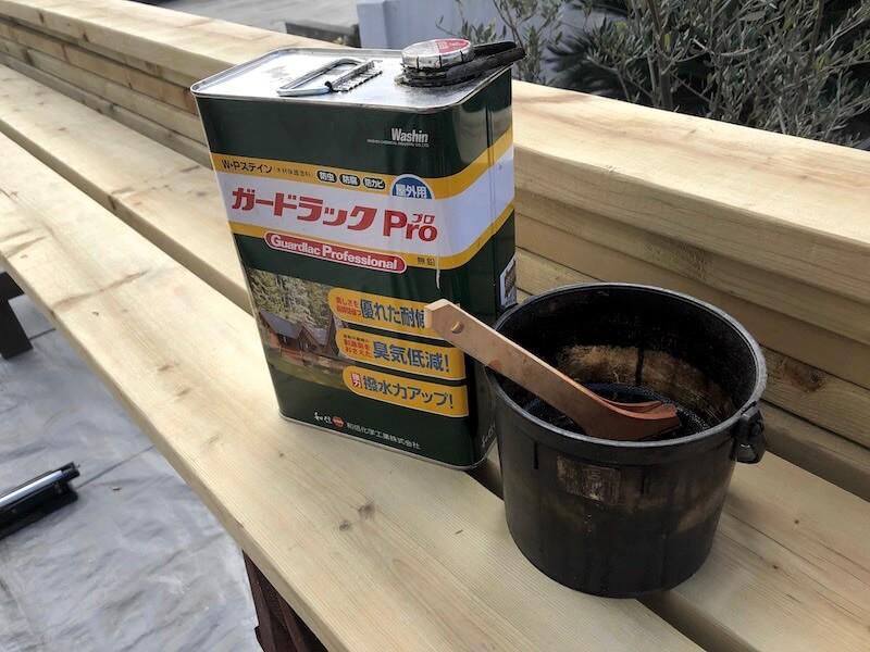 DIY工房をDIY! ウッドデッキ製作3