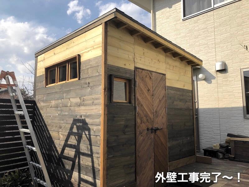 DIYガレージ 外壁工事8