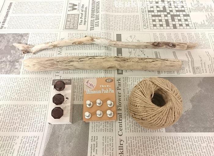 流木のアクセサリー収納の材料