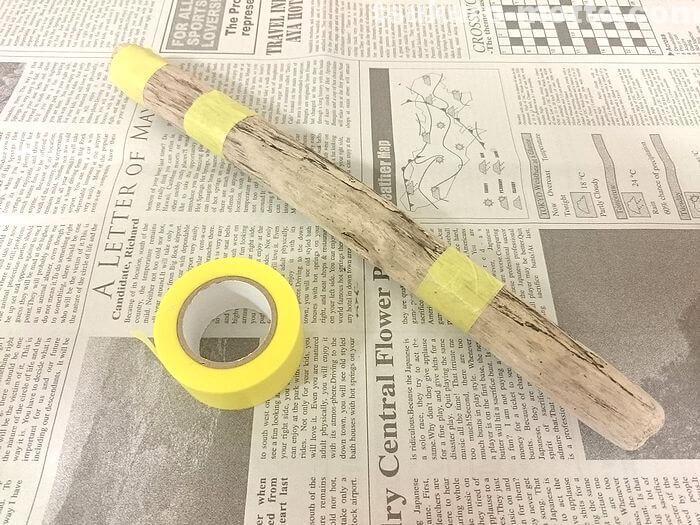流木の塗装1