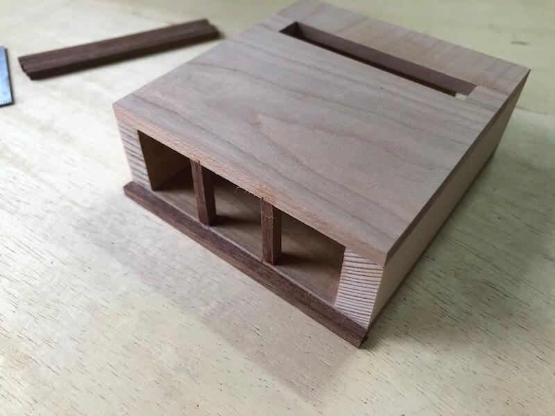 家具調iPhoneskeaker フィン製作3