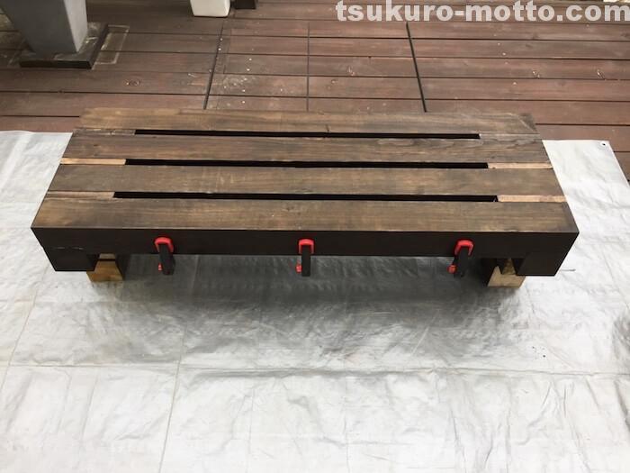 ガーデンベンチDIY 組み立て3