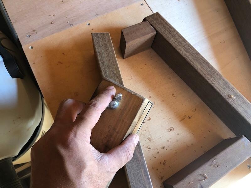 ガーデンベンチDIY 足部の切出17