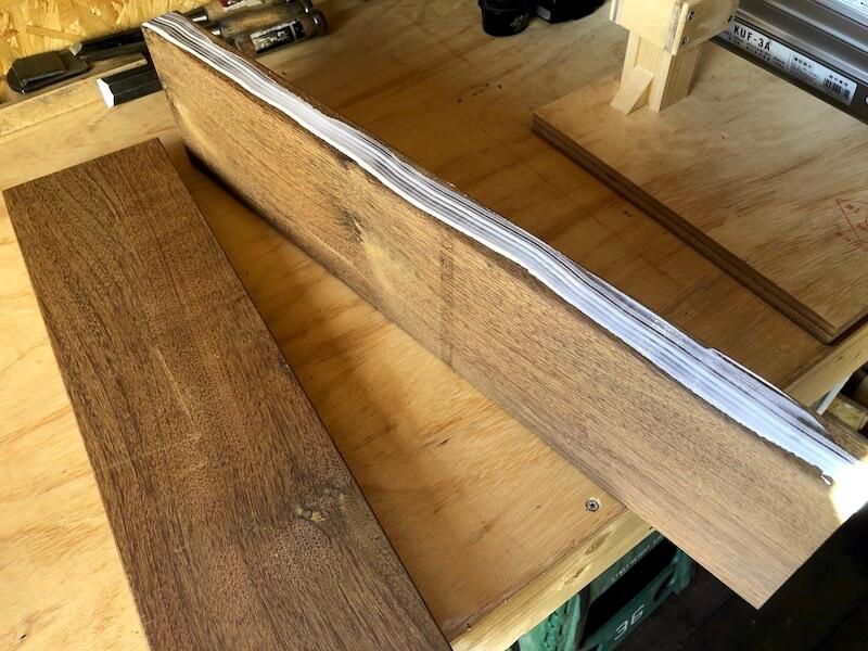 ガーデンベンチDIY 座面製作1