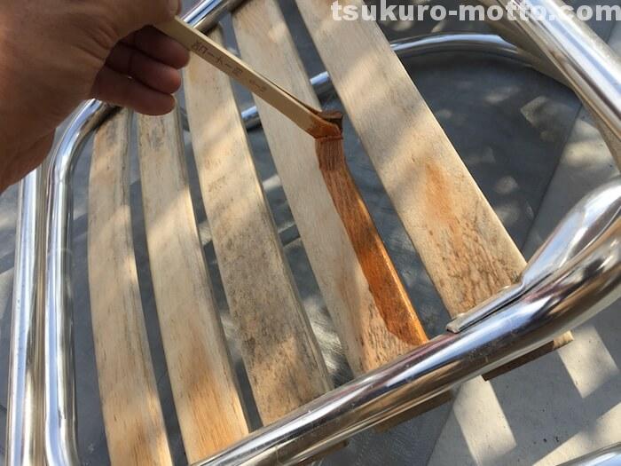 ガーデンチェアメンテナンス チェア塗装1