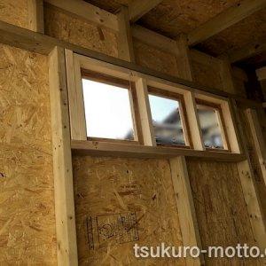 DIYガレージ ガラス窓
