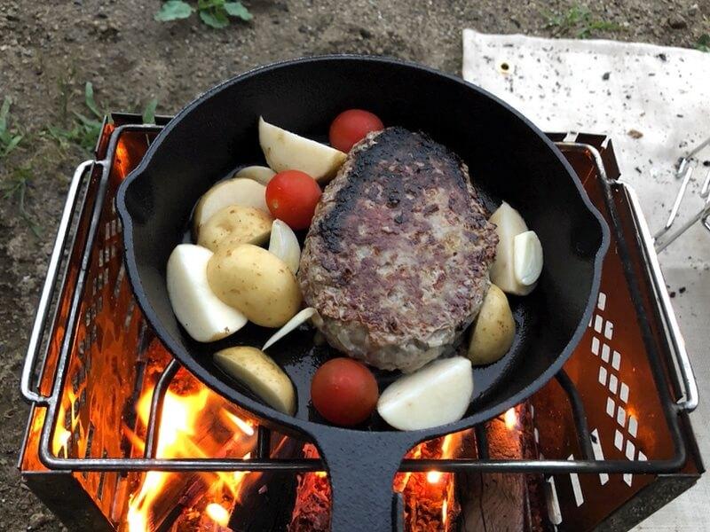 チーズinハンバーグ 調理3