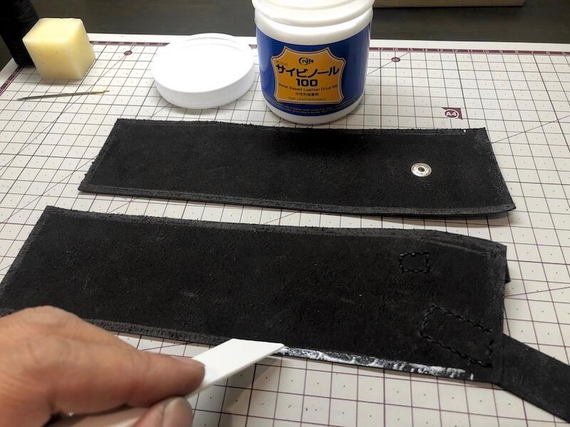 ナタ用革シースハンドメイド 本体の製作2