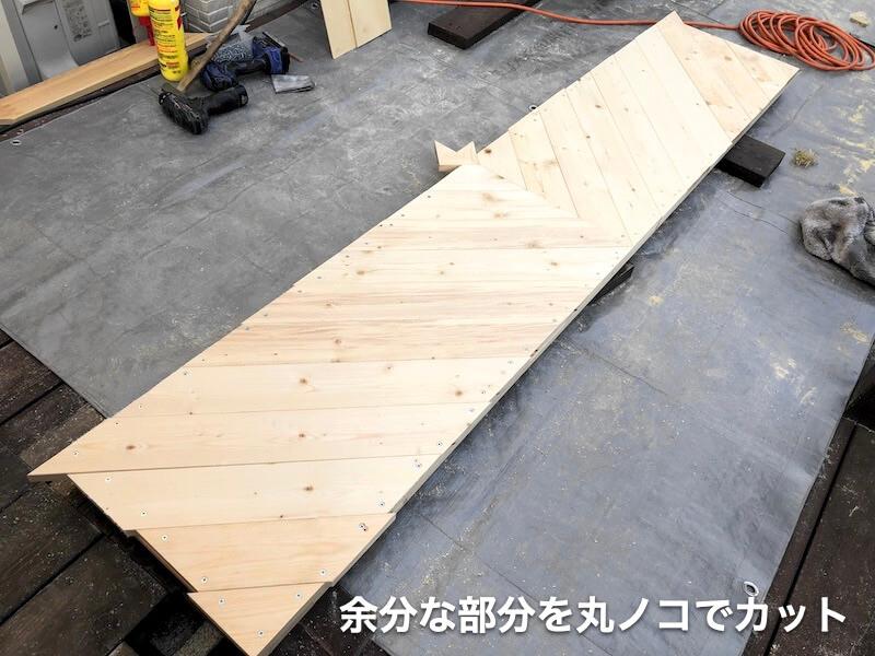 ヘリンボーン扉DIY ヘリンボーン6