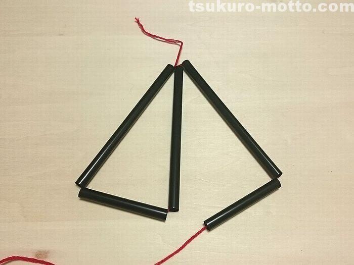 三角形のヒンメリの作り方3