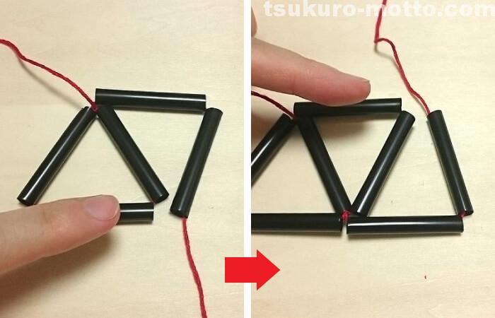 ダイヤのヒンメリの作り方3