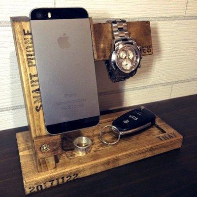時計&アイフォンスタンド