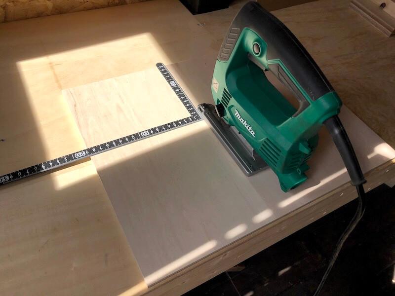 ジグソーテーブルDIY テーブル製作3