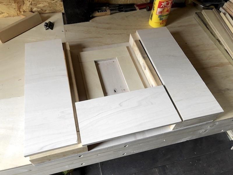 ジグソーテーブルDIY テーブル製作10