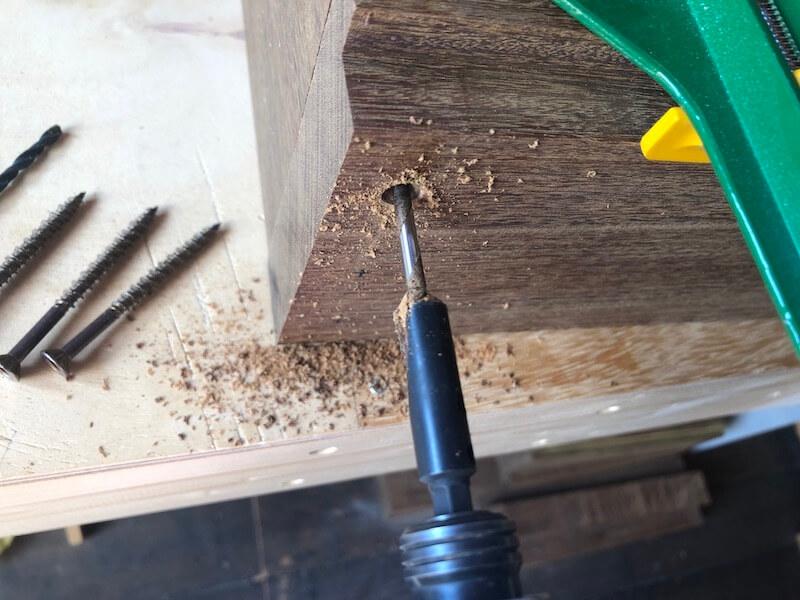 木製プランターDIY 枠組立3