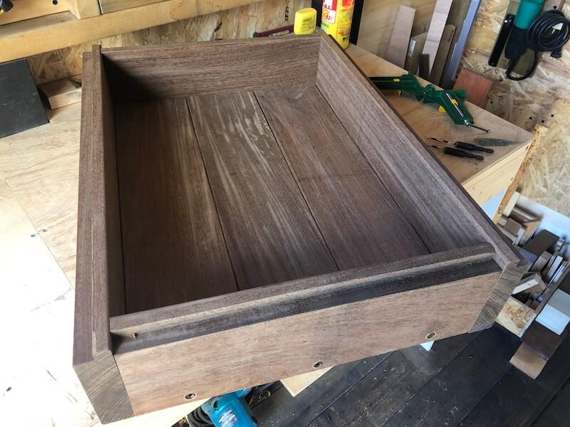 木製プランターDIY 枠組立7