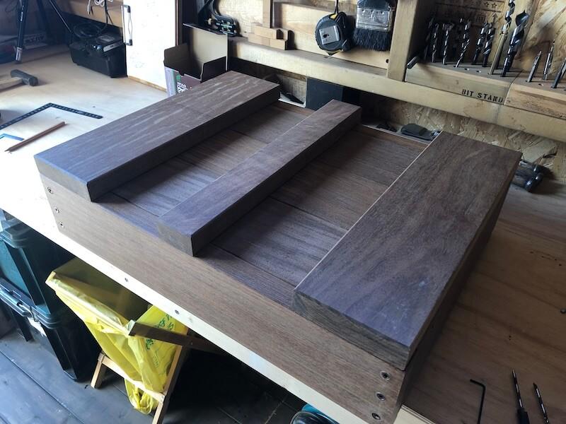 木製プランターDIY 枠組立8