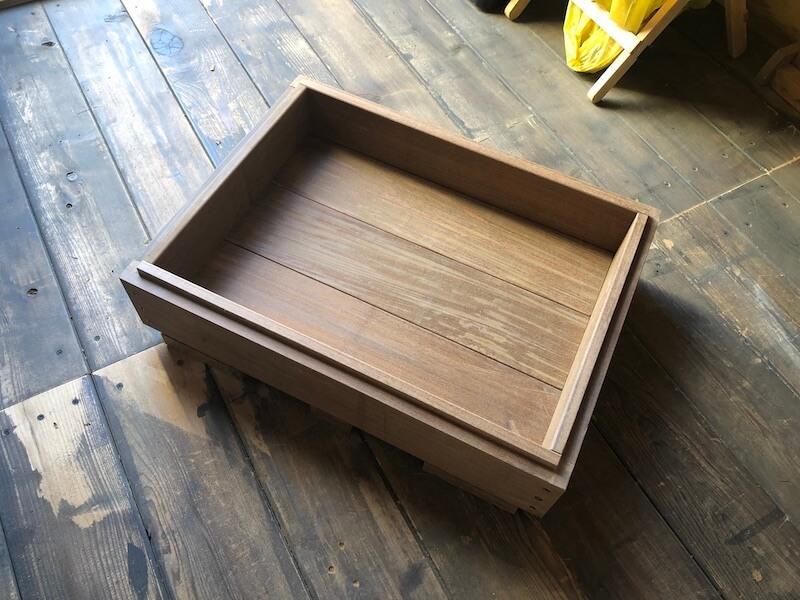 木製プランターDIY 枠組立10