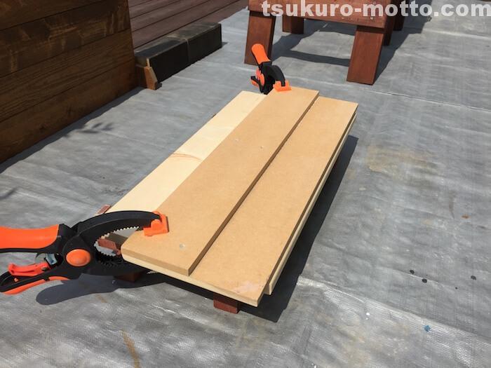 ラダー本棚DIY R面処理