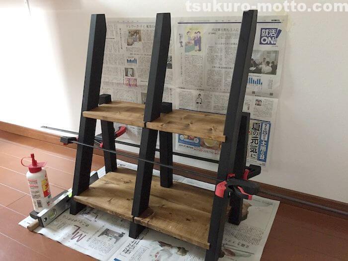 ラダー本棚DIY 組立7
