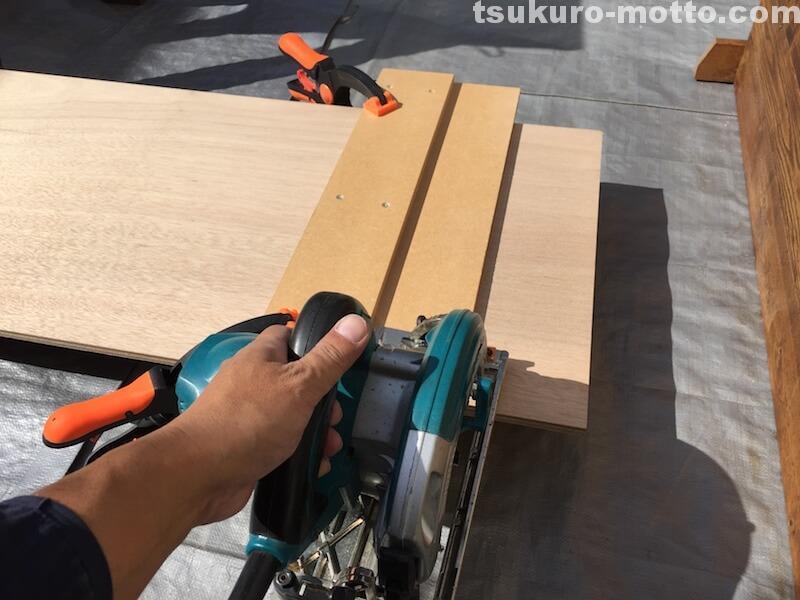 マニッシュ端材テーブルDIY ベースカット