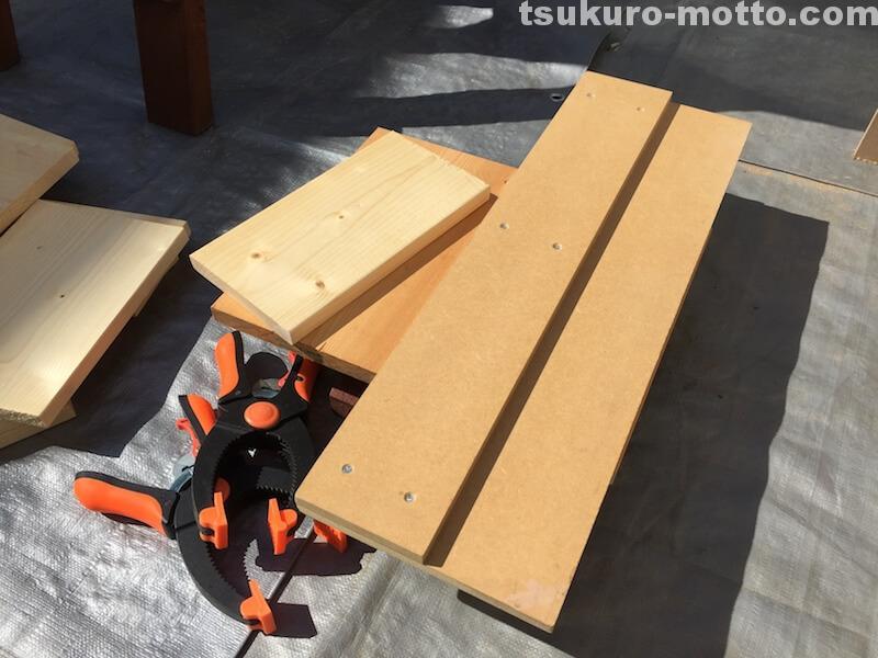 マニッシュ端材テーブルDIY 端材調整2