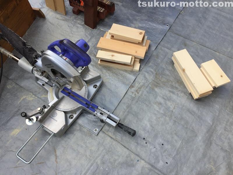 マニッシュ端材テーブルDIY 端材調整3
