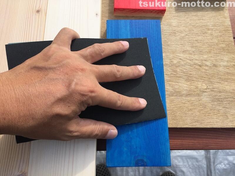 マニッシュ端材テーブルDIY 塗装7
