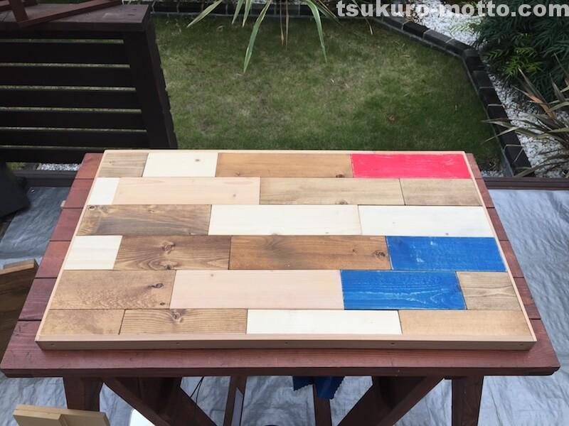 マニッシュ端材テーブルDIY 天板仕上げ6