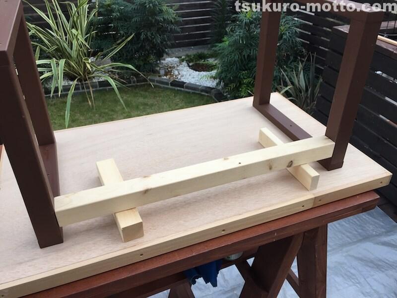 マニッシュ端材テーブルDIY 脚取付4