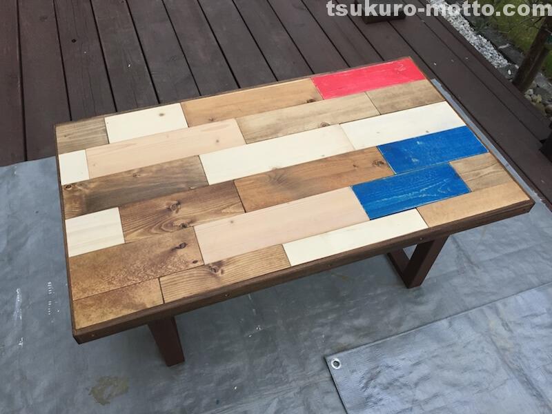 マニッシュ端材テーブルDIY 組立完了