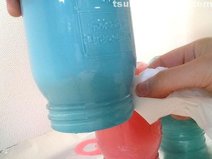 ガラスビンの塗装5