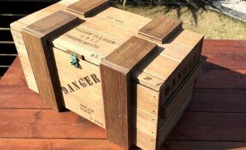 クリーナーbox 木箱